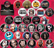 Suicide Squad Movie Metal Photo And Comic Art Button Assortment Of 144 New Boxed