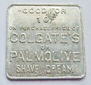 Good For Token Colgate - Palmolive Peet Shave Cream 1-1/16-inch Square