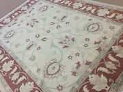 9and039 X 12and039 Soft Beige Rust Fine Ziegler All Over Oriental Area Rug Hand Knotted