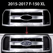 2015-2017 Ford F150 Xl Chrome Snap On Grille Overlay Full Grill Cover Insert New