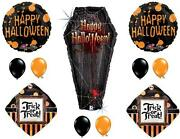 Halloween Coffin Party Balloons Decoration Supplies Vampire Trick Or Treat Scary
