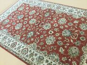 6' X 9' Rust Beige Fine Agra Oriental Rug All-over Hand Knotted Wool Foyer