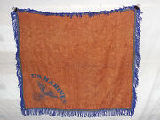 Flag677 1930and039s Ww2 Era Usmc Woven Table Cloth With Blue Us Marines Applica W9d