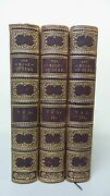 Nice 3-volume Set Leather Bound Poetry Books The Book Of Gems C.1848-1853