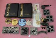 United States Of America Military Merit Medal/challenge Coin Lot.