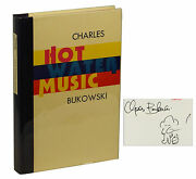 Hot Water Music By Charles Bukowski Signed Limited First Edition 1983 1st