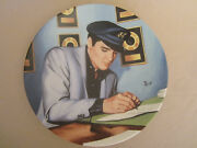 Elvis Presley Collector Plate Closing The Deal Looking At A Legend 15 B Emmett