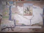 Signed Original Watercolor By Peg Humphreys, Road To Bristlecone Pines 28 X 21
