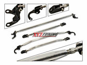 Strut Tower Tie Arm Bars Brace 4 Pieces Combo Front + Rear For 96-00 Honda Civic