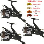 Runner Carp Fishing Reels X3 Max60 Freespool With 10lb Line And Free Boilies