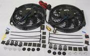 Dual 10 S-blade Electric Radiator Cooling Fans W/ Thermostat And Mounting Kit