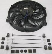 14 Universal Curved S-blade Electric Radiator Cooling Fan W/ Mount Kit Hot Rod