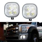 Clear Lens White 40w Cree Led Fog Light Kit For Ford F-250 F-350 F-450 Excursion