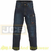 Mens Jcb 1945 Work Jeans Combat Work Trousers Cargo And Knee Pad Pockets Pro Pants