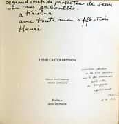 Henri -bresson Artist Catalog Of Photos, Signed And Inscribed
