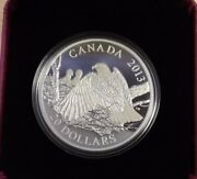 2013 20 Fine Silver Coin The Bald Eagle Mother Protecting Her Eaglets
