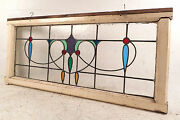 Vintage English Stained Glass Window Panel 2774nj