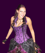 Satin/lace-steel Boned Corset-prom/goth-all Colours-handmade To Measure-heresy