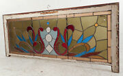 Vintage English Stained Glass Hanging Window 3130nj