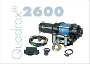 Quadrax 2600 Winch With 40and039 Of 4.9mm Synthetic Rope 2600lbs Wireless Remote