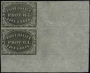 10x1 Lr Corner Pair 1898 Postmasterand039s Provisional Reprint-positions D And B