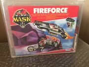 Vintage 1986 Kenner M.a.s.k. Fireforce Euro Box Mask Factory Sealed Afa 85 Wow