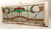 Vintage Stained Glass Window Panel 3222nj