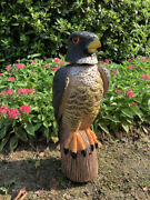 Heritage Realistic Eagle Decoy Bird Scarer Garden Protector Rotating Head Rodent