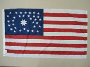 34 Star U.s. Kansas Dbl Medallion 1861 Historical Outdoor Dyed Nylon Flag 3and039x5and039