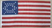 34 Star U.s. Mine Creek 1864 Ks Historical Outdoor Dyed Nylon Flag Grommet 3and039x5and039