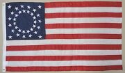 34 Star U.s. Shawbaker 1862 Historical Outdoor Dyed Nylon Flag Grommet 3and039 X 5and039