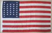 34 Star U.s. Variant Pattern Historical Outdoor Dyed Nylon Flag Grommet 3and039 X 5and039