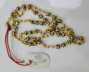Vintage Solid 22k Gold Handmade Jewelry Beads Chain Necklace Enamel Work