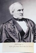 Associate Justice William Strong Autograph Served 1870 To 1880 Supreme Court