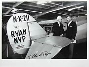 T. Claude Ryan Aviation Pioneer Aircraft Builder Airline Founder Signed Photo