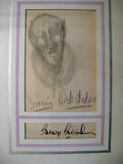 George Gershwin Composer Original Drawing And Autograph Signature