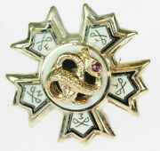 Mens 10k Yellow Gold Sigma Nu Fraternity Estate Pin 154091