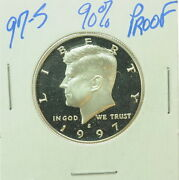 1997 S Us Mint Kennedy Half Dollar Proof Silver Coin