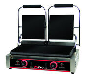 Winco Esg-2 Electric Countertop Double Sandwich Grill Stainless Steel