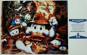 Alan Young Signed 8x10 Photo 3 Voice Of Scrooge Mcduck Auto W/ Beckett Bas Coa