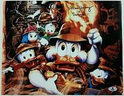 Alan Young Signed 11x14 Photo 4 Voice Of Scrooge Mcduck Auto W/ Beckett Bas Coa