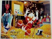 Alan Young Signed 11x14 Photo 7 Voice Of Scrooge Mcduck Auto W/ Beckett Bas Coa