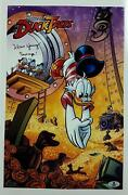 Alan Young Signed 11x17 Photo 2 Voice Of Scrooge Mcduck Auto W/ Beckett Bas Coa
