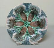 19th C. American Gsh Etruscan Majolica Shell And Seaweed 8.25 Plate