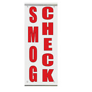 Smog Check Auto Body Shop Car Repair Double Sided Vertical Pole Banner Sign