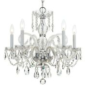 Crystorama Traditional Crystal Spectra Crystal Chandelier - 1005-ch-cl-saq