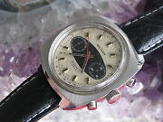 Waltham Vintage Stainless Steel Chronograph Watch Surfboard Dial Valjoux 7733