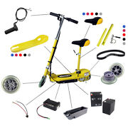 Kids Electric Scooter Spare Parts Battery Front Back Wheel Drive Belt Charger