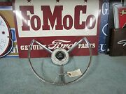 1958 Ford Power Steering Horn Ring. Nos Or Excellent Used Feg-3624-b