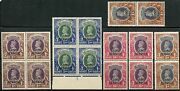 India Jind Service High Values Scotto72/o75 Lot Of Four Each Mint Never Hinged